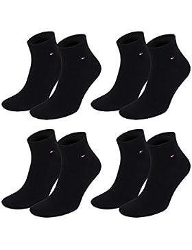 Tommy Hilfiger Herren Quarter Socken Flag Quartersocken 4er Pack
