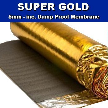 Super Gold Comfort 5mm Laminate Wood Floor Underlay with Damp Proof Membrane - 1 Roll 15m2 - Novostrat - inexpensive UK light store.