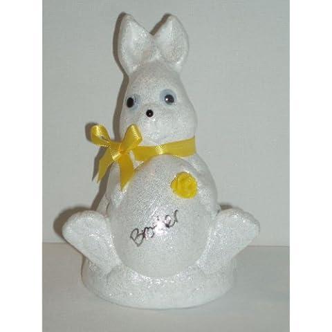 Brother bianco coniglio di Pasqua Outdoor commemorativa ornamento (giallo (Easter Bunny Ornamento)