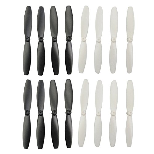 Sharplace 16 Propeller Parts Prop Accessories for Parrot Minidrones 3 Mambo Swing RC Drone - Plastic, Black White Color