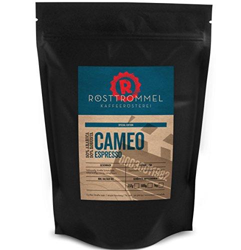 Espressobohnen CAMEO - Special Edition - Dunkle Schokolade, vollmundig, mittelkräftig - cremig - handgeröstete ganze Kaffee-Bohnen für Vollautomat & Siebträger - kräftige Crema - Premium Espresso (500 Gramm)
