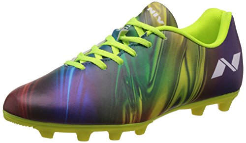 1. Nivia Men's Blue and Green Football Boots