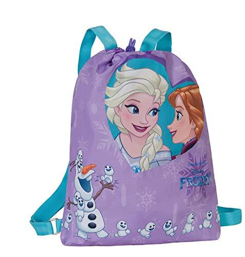 Disney frozen magico cuore - sacca con spallacci regolabili - colore viola