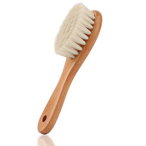 Baby-Haarbürste mit Holzgriff und superweichen Borsten Natur-Pur (kräftiges Holz)