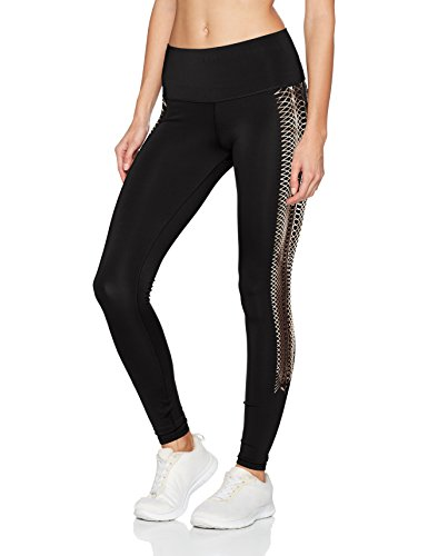PUMA Damen Everyday Train Graphic Tights, Puma Black-Copper Lacing Prt, S (Puma Damen Hose Training)