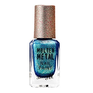 Barry M Cosmetics Molten Metal Nail Paint, Crystal Blue