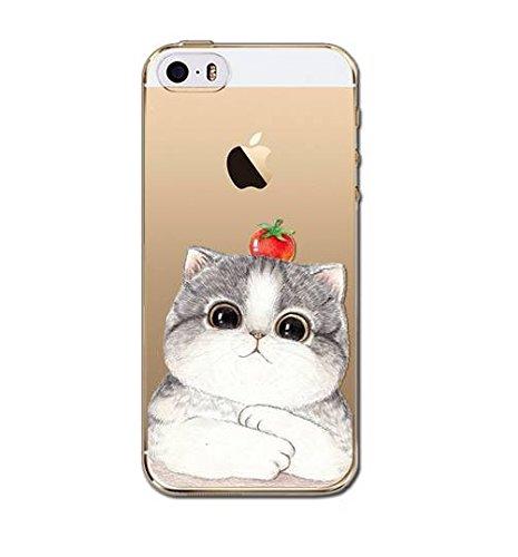 Coque Souple en Gel silicone pour Iphone 6 et 6S , etui , couverture , housse ,arriere , chat claire de lune Chat tomate