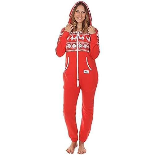 dia del orgullo friki Sueter navideno friki de Tipsy Elves - Pijama de cuerpo entero. Juego de renos.
