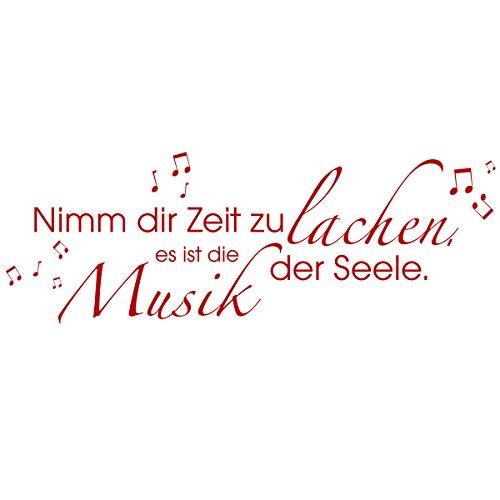 Preisvergleich Produktbild WANDKINGS Wandtattoo - Nimm dir Zeit zu lachen,  es ist die Musik der Seele. - 155 x 56 cm - Rot - Wähle aus 5 Größen & 35 Farben