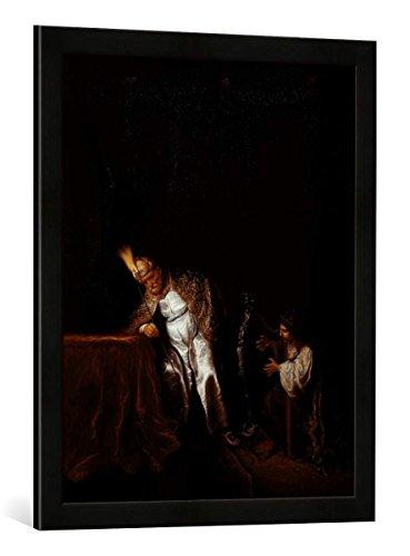 gerahmtes-bild-von-salomon-koninck-david-spielt-vor-saul-kunstdruck-im-hochwertigen-handgefertigten-