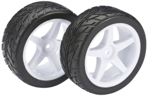 Absima - Wheel Set Buggy 5 Spoke/Street front white 1:10 (2) (2500007)