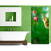 Carta da parati adesiva per porte Hummingbird And Blossom, Dimensione:S - 81x221cm;Dimensione:0cm x 0cm