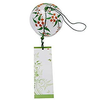 Wind Chimes Windspiel Glocken, Handgefertigt, Glas, Geburtstagsgeschenk Weihnachtsgeschenk Decors Home Windspiel, Japanischer Stil, Grün (Fische)