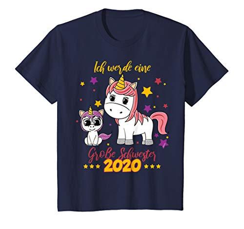 Kinder Große Schwester 2020 T-Shirt Einhorn Mädchen Geschwister (Große-bruder-schwester-shirt)
