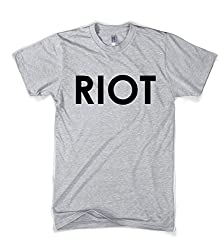 Riot T shirt Funny Shirts for Men Political Novelty Tees Humor from Crazy Dog Tshirts