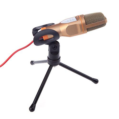 Tutoy Sf-666 Verkabelt Stereo Mikrofon mit Halter-Golden