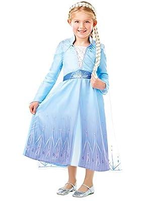 Disney Disfraz Vestido con Trenza para Niñas El Reino del Hielo Elsa