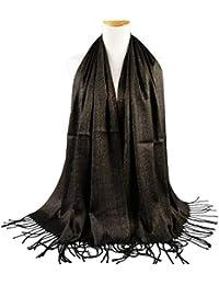 Yasminey Foulard En Soie De Dames Élégant En Dégradé Soie Foulard Écharpe  Léger Vêtements ... 008290e416c