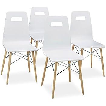 Stühle weiß modern  Scab Design Designer Stuhl mit Chrombeinen Miss B Antishock 4 Legs ...