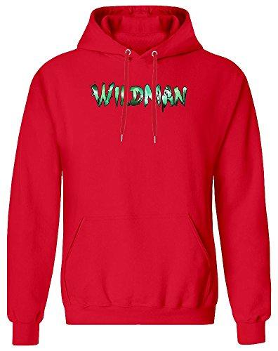 Wildman Hoodie Sweatshirt for Men - 80% Cotton, 20% Polyester - High Quality DTG Printing - Custom Printed Clothing for Men