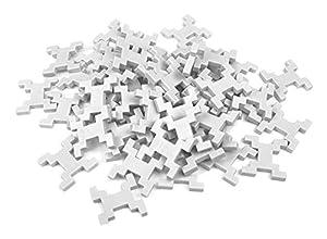 INCASTRO Rígida 014B-Juegos de construcción rígida Cube, L 60Unidades, Blanco