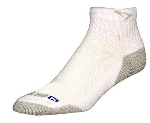 Drymax Run 1/4 Crew Socken, Gr. M 11-13, Weiß/Grau, 2 Stück -