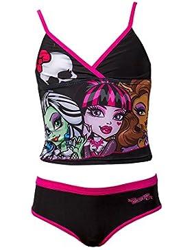 Offizielle Monster High Mädchen Rüschen Badeanzug Swimwear Alter 6-12 Jahre