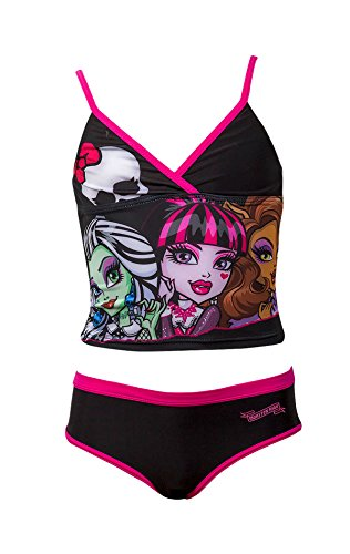 Offizielle Monster High Mädchen Badeanzug Swimwear Alter 6-12 Jahre (Kinder Monster High)