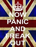 SIGNS 2 ALL 2501 Extra Large Now Panic And Freak Out WW2 UNION JACK KEEP CALM AND CARRY ON RANGE Metall Werbung Wandschild