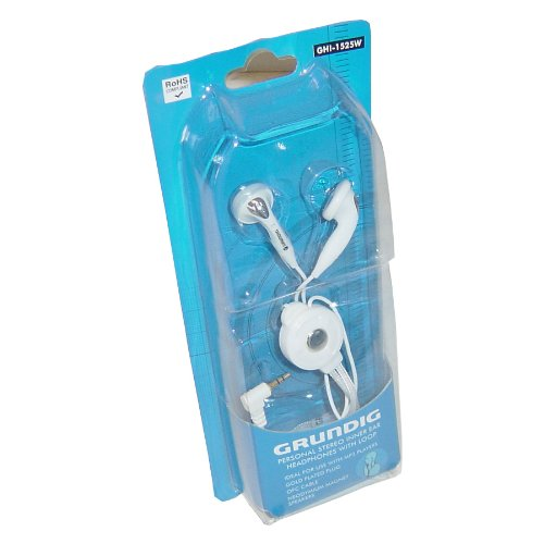 Price comparison product image Grundig GHI1525W White Comfortable In Ear Earphones Headphones For MP3