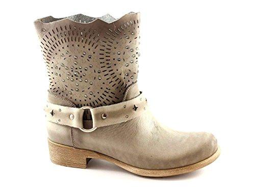 CAF NOIR GE708 chaussures de poussière femme bottes motard de la cheville