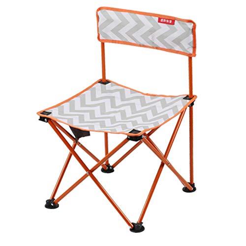 WXZB Outdoor Klappstuhl Kunst Student Zeichnung Stuhl Tragbare Angeln Stuhl Falten Kleinen Stuhl Pferd Hocker Bank, Pop orange Halterung