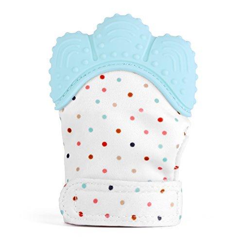 Zooawa Beißringe Baby Ring Teether, Lebensmittel Grade Silikon Kühlbeißring Säugling Zahnen Spielzeug für Babys kühlend, BPA-Frei, für 3–18 Monaten Infants, Hellblau