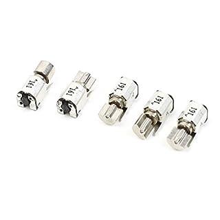 Mikro-Vibrationsmotor, DC1,5 V/0,04 A, 3 V/0,09 A, 5000 U/min, 8000 U/min, 4 mm, 5 Stück