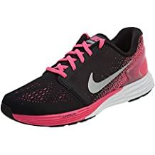 half off dfa2a 7e1b4 Nike Lunarglide 7 GS Bambini GioventùRunning Shoes Nero Rosa, 7Y US 7 Big