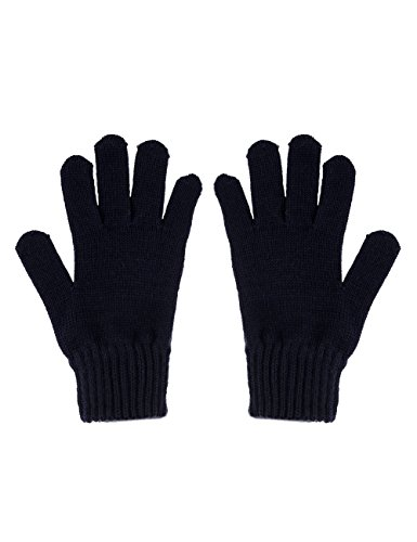 maximo Jungen Fingerhandschuh, Strick Handschuhe, Blau (Dunkelmarine 11), 5