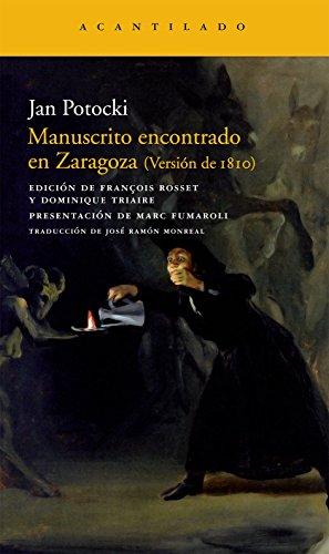 Manuscrito encontrado en Zaragoza (Narrativa del Acantilado) por Jan Potocki