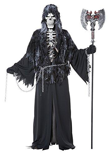 Costume Halloween Men Fancy Dress (Sensenmann Kostüm Erwachsene)