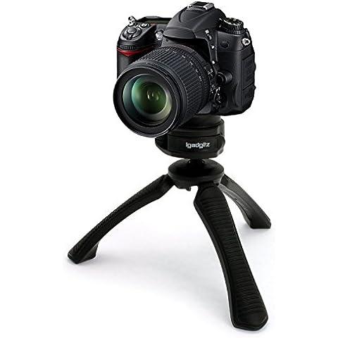 igadgitz Mini Treppiede da Tavolo Stabilizzatore Manico per Canon FD- Mount SLR A Series Fotocamere AE-1, AT-1, A-1, AV-1, AE-1 Program, AL-1