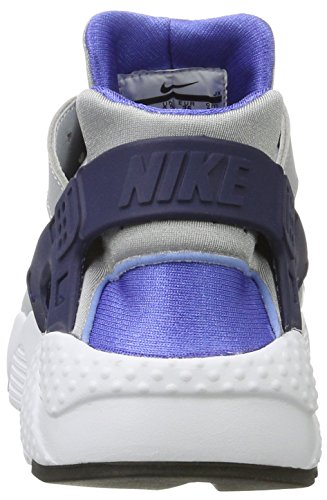Nike Huarache Run Gs, Baskets Basses Garçon Multicolore (Wolf Grey/binary Blue-comet Blue-white)