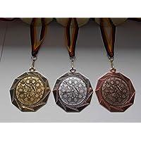 e103 Pokale & Preise Dartscheibe Pokal Kids Medaillen 70mm 3er Set mit Deutschland-Band Emblem