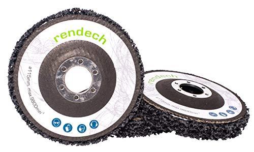 3x Rendech Schleifscheibe 115 mm zum entrosten, entlacken und reinigen von Metall - CSD Reinigungsscheibe geeignet für Winkelschleifer 115mm