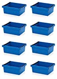 8x Mehrwegbehälter 60 x 40 x 22 blau mit Stapelbügel inkl. Zollstock * stapelbar 60x40x22 600x400x220