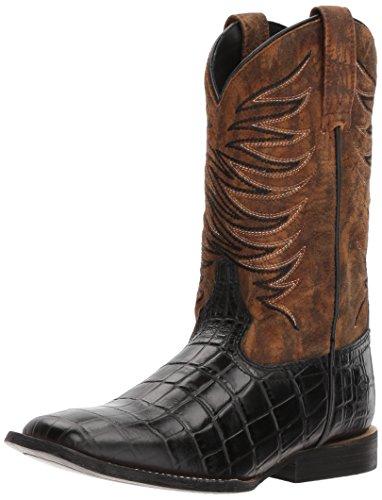 Ariat Kids' Firecatcher Western Cowboy Boot, Black Caiman Print/Dark Marble, 12 M US Little Kid