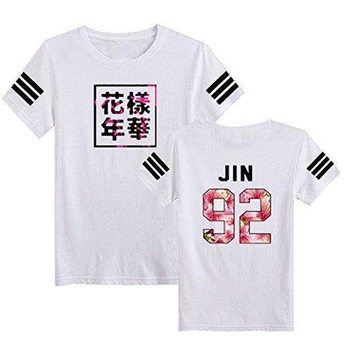 SERAPHY Unisex Kpop BTS T-Shirt Bangtan Boys BTS Young Forever Bloom Floral Top Suga Jin JIMIN Jung Kook J-Hope Rap-Monster V
