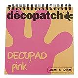 Decopatch - BLOC02O - Feuilles - Modèle aléatoire - Bloc Couleur Decopad - Rose