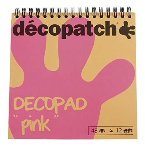 Decopatch BLOC020 - Un bloc à spirale Papier imprimé Décopatch 48 feuilles 15x15 cm, motifs...