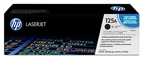 HP 125A (CB540A) Schwarz Original Toner für HP Color Laserjet CP1215, CP1515, CM1312 (Hp Cp1215 Drucker)