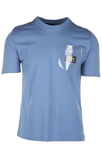 Love Moschino t-shirt maglia maniche corte girocollo uomo azzurro EU M (UK 38) M 4 720 81 M 3666 Y0