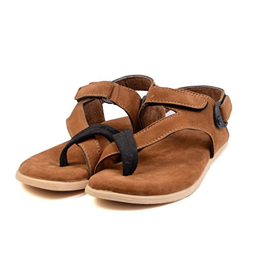 Floxtar Men's Brown Synthetic Sandal - 10